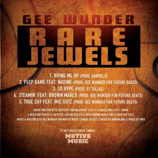 Rare Jewels EP - Gee Wunder TRACKLISTING - Copy